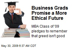Business Grads Promise a More Ethical Future