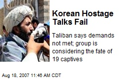 Korean Hostage Talks Fail
