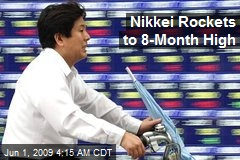 Nikkei Rockets to 8-Month High