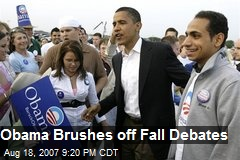 Obama Brushes off Fall Debates