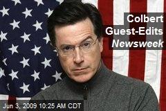 Colbert Guest-Edits Newsweek