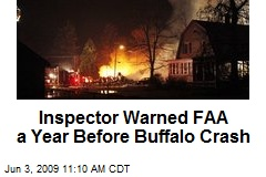 Inspector Warned FAA a Year Before Buffalo Crash