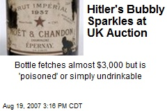 Hitler's Bubbly Sparkles at UK Auction