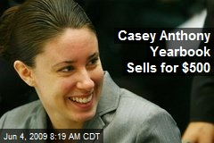 Casey Anthony Yearbook Sells for $500
