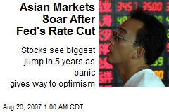 Asian Markets Soar After Fed's Rate Cut