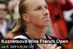Kuznetsova Wins French Open
