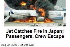 Jet Catches Fire in Japan; Passengers, Crew Escape