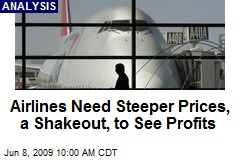 Airlines Need Steeper Prices, a Shakeout, to See Profits