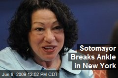 Sotomayor Breaks Ankle in New York