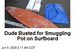 Dude Busted for Smuggling Pot on Surfboard