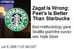 Zagat Is Wrong: Peet's Is Better Than Starbucks