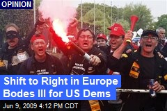 Shift to Right in Europe Bodes Ill for US Dems