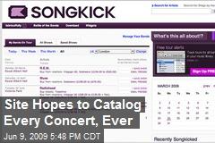Site Hopes to Catalog Every Concert, Ever