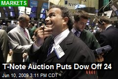 T-Note Auction Puts Dow Off 24