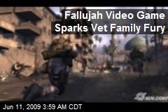 Fallujah Video Game Sparks Vet Family Fury