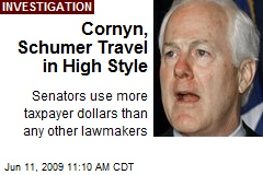 Cornyn, Schumer Travel in High Style