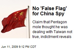 No 'False Flag' for China Spy