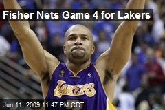 Fisher Nets Game 4 for Lakers