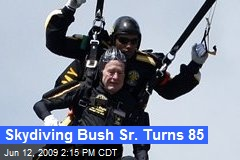 Skydiving Bush Sr. Turns 85