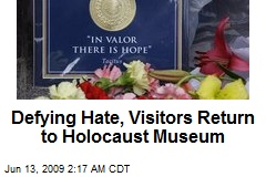 Defying Hate, Visitors Return to Holocaust Museum
