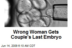 Wrong Woman Gets Couple's Last Embryo