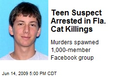 Teen Suspect Arrested in Fla. Cat Killings