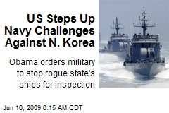 US Steps Up Navy Challenges Against N. Korea