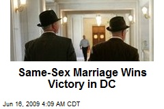 Same-Sex Marriage Wins Victory in DC