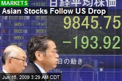 Asian Stocks Follow US Drop