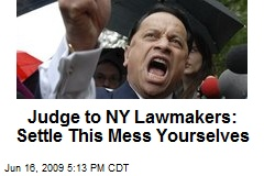 Judge to NY Lawmakers: Settle This Mess Yourselves