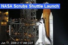 NASA Scrubs Shuttle Launch
