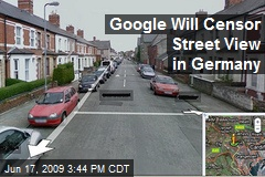 Google Will Censor Street View in Germany