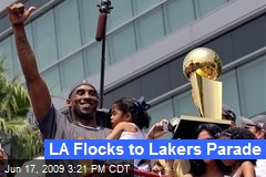 LA Flocks to Lakers Parade