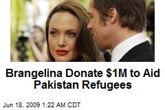 Brangelina Donate $1M to Aid Pakistan Refugees