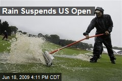 Rain Suspends US Open
