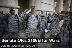 Senate OKs $106B for Wars