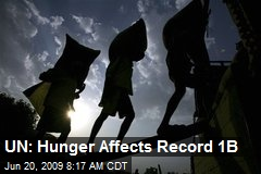UN: Hunger Affects Record 1B