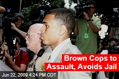 Brown Cops to Assault, Avoids Jail