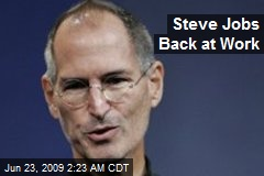 Steve Jobs Back at Work