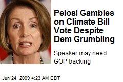 Pelosi Gambles on Climate Bill Vote Despite Dem Grumbling