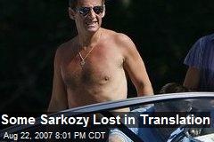Some Sarkozy Lost in Translation