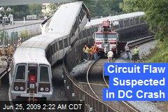 Circuit Flaw Suspected in DC Crash