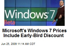 Microsoft's Windows 7 Prices Include Early-Bird Discount