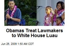 Obamas Treat Lawmakers to White House Luau