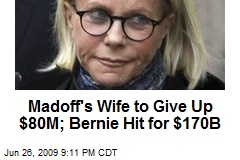 Madoff's Wife to Give Up $80M; Bernie Hit for $170B