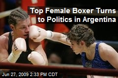 Top Female Boxer Turns to Politics in Argentina