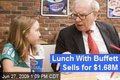 Lunch With Buffett Sells for $1.68M