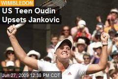 US Teen Oudin Upsets Jankovic