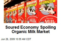 Soured Economy Spoiling Organic Milk Market