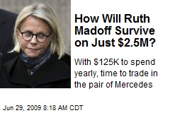 How Will Ruth Madoff Survive on Just $2.5M?